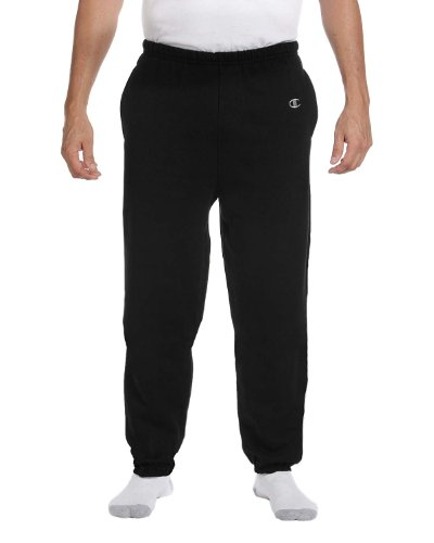 Champion Men's Cotton Max Fleece Pant, Black ()