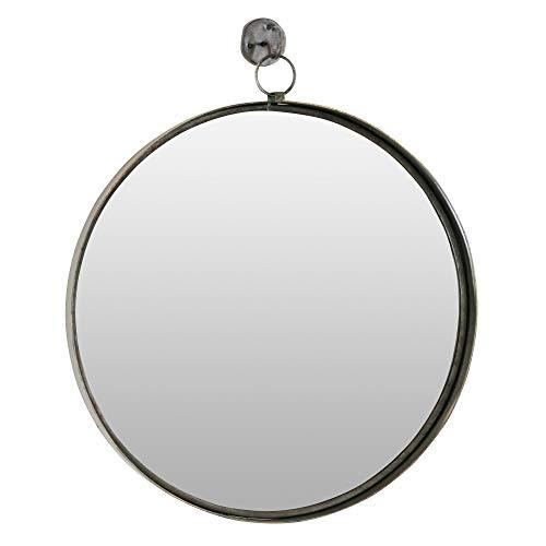Aspire Bescott Suspended Round Wall Mirror, Brown (Mirror Brown Wall Round)