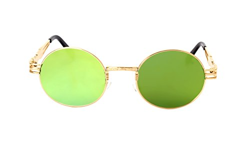 3258294bef GAMT Retro Metal Hipster Steampunk Round Style Coating Sunglasses ...