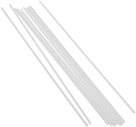10本 プラスチック チューブ 建築モデル 製作ツール 全5選択 - 丸い, 3x250mm