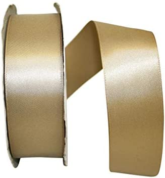 Reliant Ribbon 4950-974-09K Double Face Satin Dfs Ribbon Antique Gold 1-1//2 Inch X 50 Yards