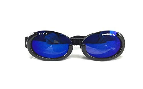 Doggles ILS Medium Metallic Black Frame and Smoke Lens