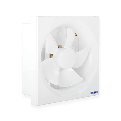 Luminous Vento Deluxe 200 mm Exhaust Fan for Kitchen, Bathroom, and Office (Cut-out Size – Sq 242 x 242 mm, White)