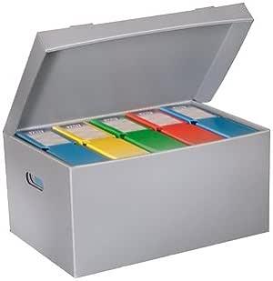 Fast-Paperflow - Cajon polipropileno para 6 cajas archivo definitivo lomo 8 cm din a4 pack de 10 unidades: Amazon.es: Oficina y papelería