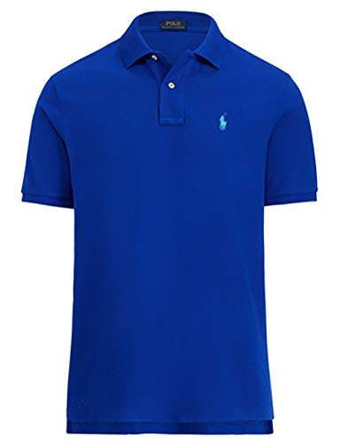Polo Ralph Lauren Classic Fit Mesh Polo (Small, Imperial-Blue)