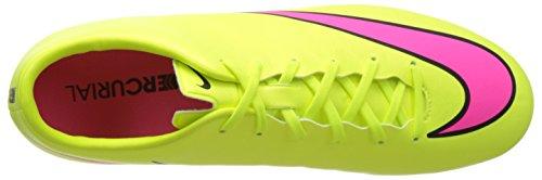 Nike Merc Victory V Fg, Botas de Fútbol para Hombre Amarillo / Fucsia