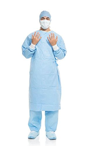 Halyard Health 41739NS Aero Blue Performance Surgical Gown, Standard Gown Length, Non-Sterile, Large (Case of 40)