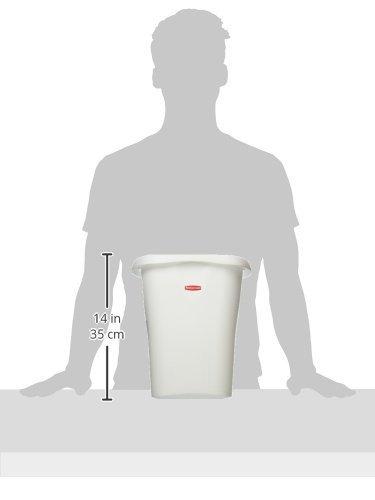 Rubbermaid FG5L5100WHT Open Wastebasket, 12-Quart, White