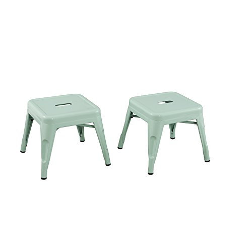 - Reservation Seating Kids Steel Stool, Mint Green, One Size