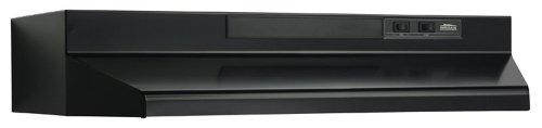 Broan F403623 Two-Speed Four-Way Convertible Range Hood - 36-Inch - Black
