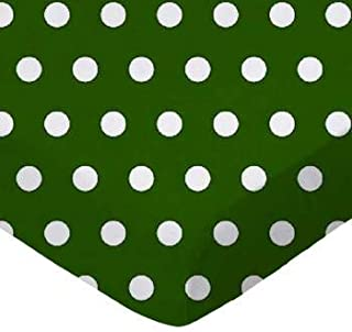 product image for SheetWorld 100% Cotton Percale Fitted Crib Toddler Sheet 28 x 52, Polka Dots Hunter Green, Made in USA
