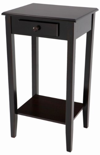 tique Regalia Table Collection Espresso Finish (Bottom Drawer Dark Cherry)