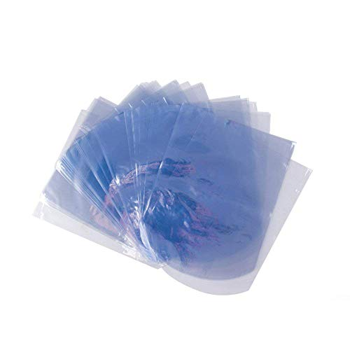 LazyMe Round End Heat Shrink Bags, 6x8 inch,Shrink Wrap Bags for Soap and Bath Bomb, Clear, 100 Packs