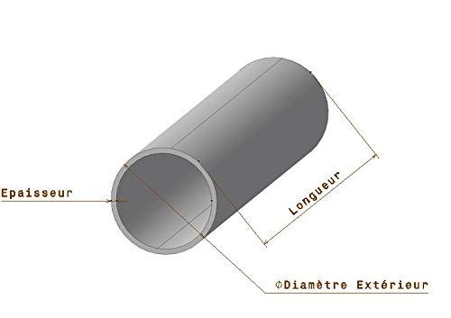 1 m/ètre Tube rond aluminium D50 x 2 mm D/écoupe sur mesure offerte 1 m/ètre