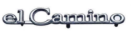 Panel Emblem Header (Impala Bob's 1968-69 El Camino Front Header Panel Emblem)
