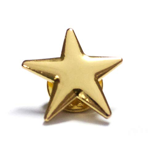 ((Price/100PCS) ALICE Gold Star Lapel Pin, Size 3/4