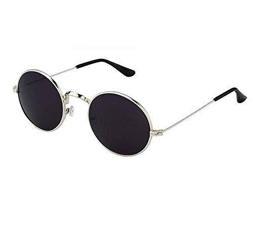 DEVEW Men's and Women's Round Sunglasses , Black, Medium