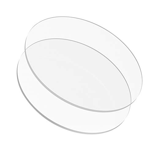 8.25 inch Buttercream Acrylic Round Cake Disks Set of 2 (0.18 or 3/16 inch thick) - Great for Serving Bake Goods and Art Craft Project UPDATED version