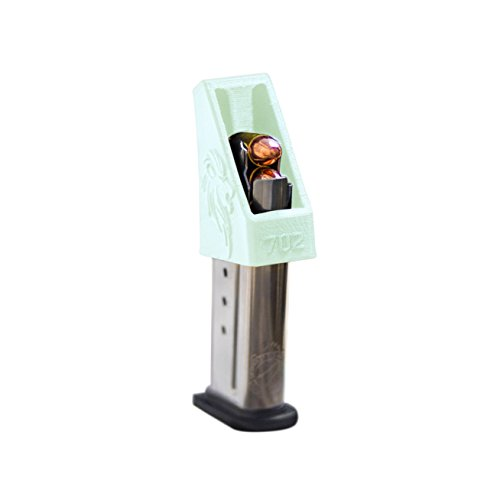 SINGLE STACK Magazine loader RAE-702 for Popular for M&P Shield 9mm Springfield XDS 40 all Colt 45 1911 45ACP .357 .380 10mm .40 cal .45 cal. USA MADE Glow in the Dark