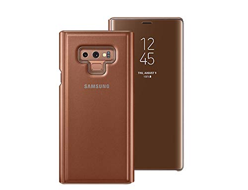 finest selection cd317 4feac Samsung Galaxy Note9 Clear View S-View Standing Cover Case EF-ZN960CAEGKR  Brown