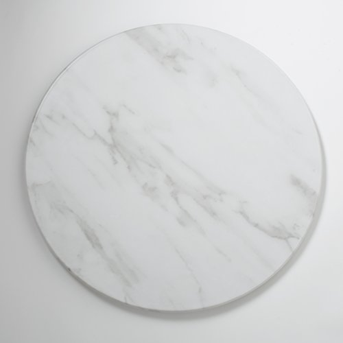 American Metalcraft MW21 Marble Melamine Serving Board, Round, White, 21 1/2-Inch Diameter (Tops Marble Table Round)