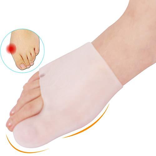 Toe separators - 1 Pair Silicone Insoles Hallux Valgus Separator Plantar Fasciitis Bursitis Orthopedic Insoles Bunion Corrector for Toes