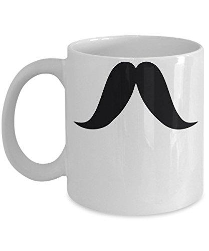 Gunslinger Mustache Mug 11oz - Mustache Coffee Mug - Best Mustache Mug -
