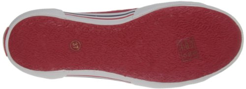 Pepe Jeans London ABE-290 D - Zapatillas Mujer Rojo (245 Redwood)