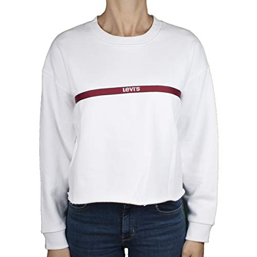 Levis Damen Sweatshirt Graphic RAW Cut Crew 56340-0011 Weiß