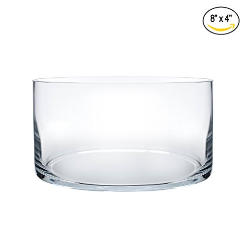 Royal Imports Flower Glass Vase Decorative Centerpiece For Home or Wedding by Cylinder Shape, 4