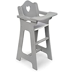 Badger Basket Doll High Chair, Gray/White