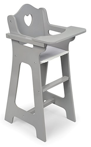 Badger Basket High Chair-Executive (fits American Girl Dolls), Gray