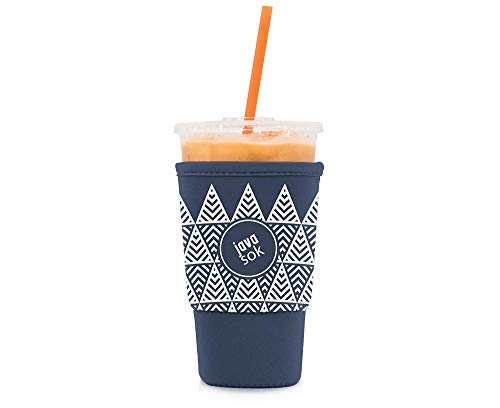 JAVA SOK Reusable Coffee Sleeve - Insulated Neoprene Sleeve for Iced Drinks and Cup Sleeve | Ideal for All Sizes Starbucks Coffee, McDonalds, Dunkin Donuts (Tree Landscape, Large 32 oz)