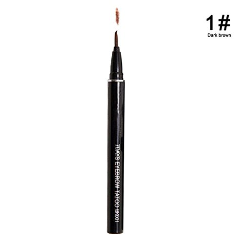 Eyebrow Tattoo - Kill Brow - Eyebrow Enhancers Women Makeup Product Waterproof Brown Eye Brow Eyebrow Tattoo Pen Makeup - 01 Drak Brown - Brow Pen ()