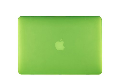 """MacBook Pro 15"""" With Retina Dispaly Case TECOOL® Ultra Slim Multi Colors Soft-Touch Plastic Hard Case Cover with TECOOL® Logo Mouse Pad for MacBook Pro 15"""" With Retina Display Model: A1398(Green)"""