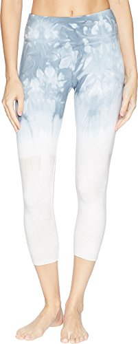 Hard Tail Women's Flat Waist Capris Crystal Dip-Dye 2 X-Small 22
