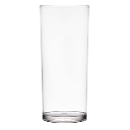 GET H-16-1-SAN 16 oz. Clear SAN Plastic High Ball Glass - 24/Case by GET SW
