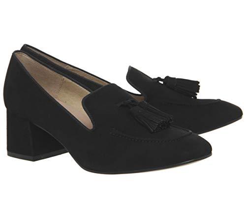 Black Shoes Tassel Suede Office Mid Block Move cqACCOxwzy