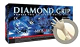 Microflex Medium Natural Diamond Grip 6.3 mil Latex Medical Grade Powder-Free Disposable Gloves -1 Case of 10 Boxes - 100 per box