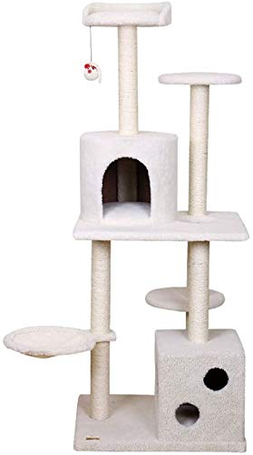 FTFDTMY Sechsschichtiger Kratzbaum, Cat Villa Indoor Cat Supplies Einteilige Cat Climbing Frame Cat Jumping Platform…