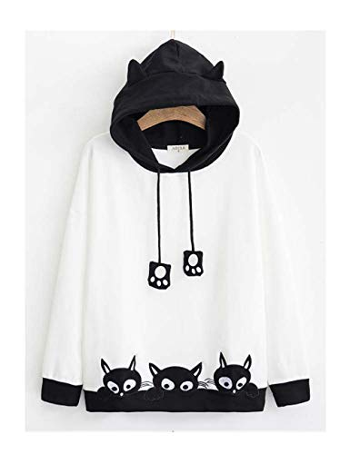 Cosplay Anime Bunny Emo Girls Sweater Hoodie Ears