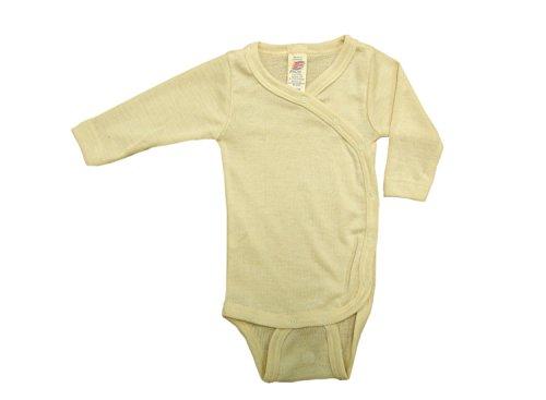 ENGEL Bodysuit MERINO WOOL SILK baby newborn body kimono (Natural, 0-3 Months) (Suit Merino Wool)