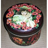 BEST MOM GIFT-UNIQUE MOTHER'S DAY GIFT-Poppy Brand - Superior Quality Collectible Flower Design Tin Canister {jg} GREAT FOR MOM, DAD, SISTER, BROTHER, AUNT, UNCLE, COUSIN, GRANDCHILDREN, GRANDMA, GRANDPA, WIFE AND RELATIVES.