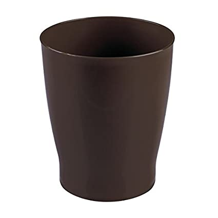Ordinaire InterDesign Franklin Wastebasket Trash Can For Bathroom, Bedroom, Dorm,  Office Waste, Dark