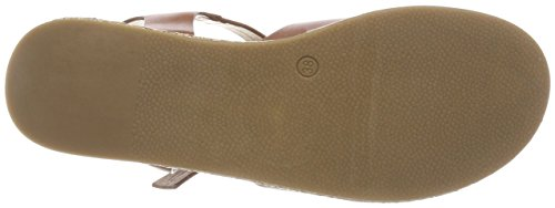 Buffalo brown Blu 01 Donna P2113d Con 1a S568c Pu Sandali Alla Caviglia Cinturino PxrPwq