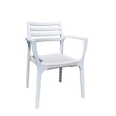 Gartenstuhl Karen Farbe: Weiß-Grau