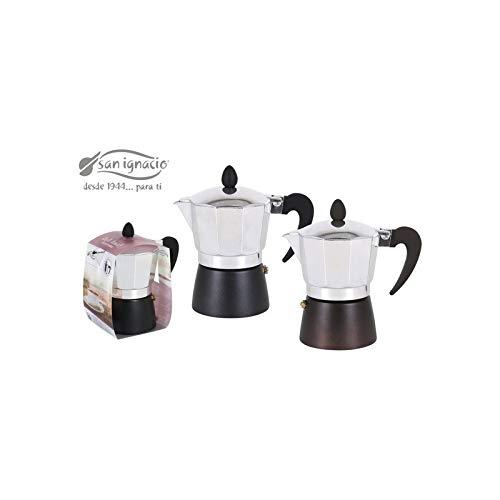 San ignacio - Cafetera metalizada 3 servicios glam: Amazon.es: Hogar