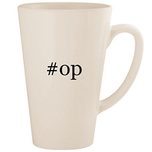#op - White Hashtag 17oz Ceramic Latte Mug - Xbox Aimbot Controller Modded 360