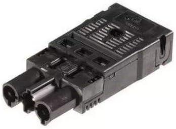 Wieland Stecker GST18I3 System schwarz mit Zugentlastung