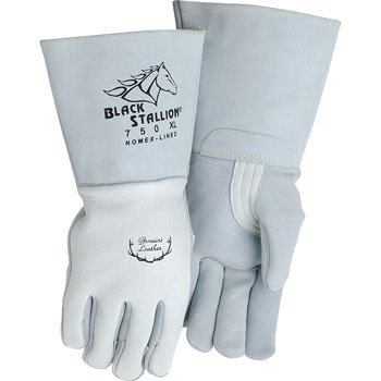 Black Stallion 750 Premium Grain Elkskin Stick Welding Gloves, Medium